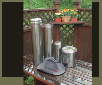 Various stainless steel containers should be used for time capsules underground.