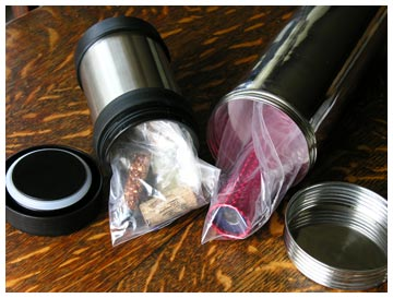 Protecting Your Time Capsule Items: Unsealed polyethylene baggies