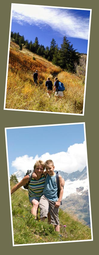 Families hiking on a time capsule adventure.