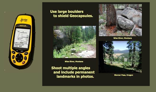 Recording GPS and Photo Data: Here are GPS and photo samples for the time capsule adventure.