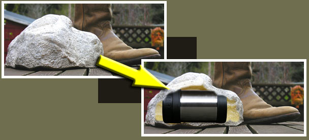 The Time Capsule Basics: A Geocapsule or hollow rock conceals the Time Capsule.