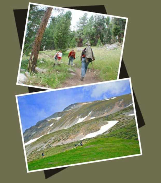 Photos of Hikers in Wilderness